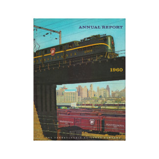 Pennsylvania Railroad Annual Report 1960 Canvas Print