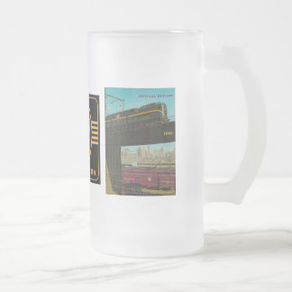 Pennsylvania Railroad Annual Report 1960 Frosted Glass Beer Mug