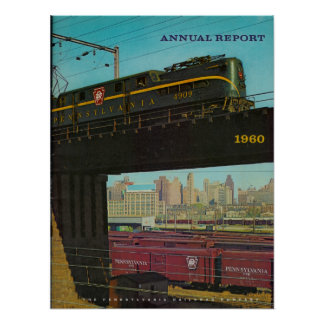Pennsylvania Railroad Annual Report 1960 Poster
