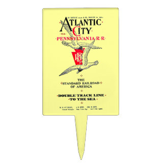 Pennsylvania Railroad Atlantic City Service 1904 Cake Topper