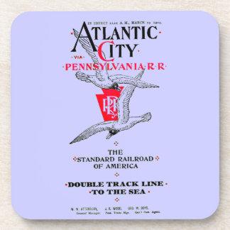 Pennsylvania Railroad Atlantic City Service 1904 Beverage Coasters