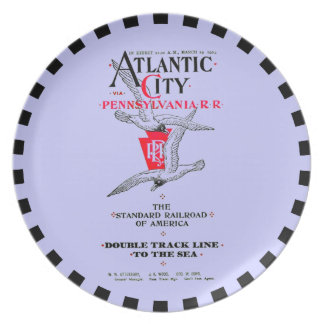Pennsylvania Railroad Atlantic City Service 1904 Dinner Plate