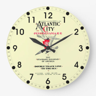 Pennsylvania Railroad Atlantic City Service 1904 Large Clock