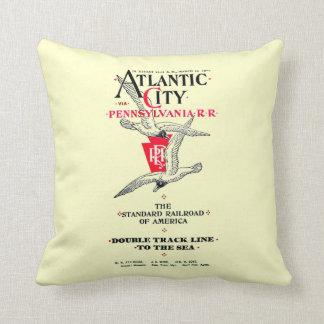 Pennsylvania Railroad Atlantic City Service 1904 Pillow