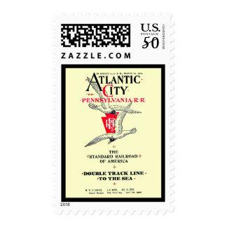 Pennsylvania Railroad Atlantic City Service 1904 Postage