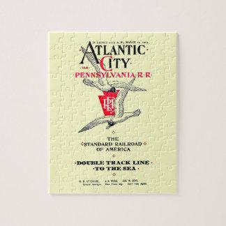 Pennsylvania Railroad Atlantic City Service 1904 Jigsaw Puzzle