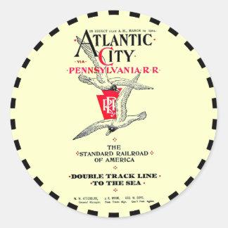 Pennsylvania Railroad Atlantic City Service 1904 Round Stickers