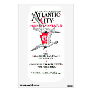 Pennsylvania Railroad Atlantic City Service 1904 Wall Decal