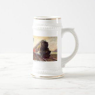 Pennsylvania Railroad Broadway Limited Beer Stein