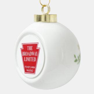 Pennsylvania Railroad Broadway Limited Ceramic Ball Christmas Ornament