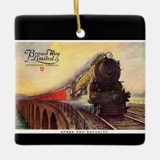 Pennsylvania Railroad Broadway Limited Ceramic Ornament