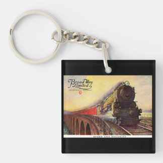 Pennsylvania Railroad Broadway Limited Keychain