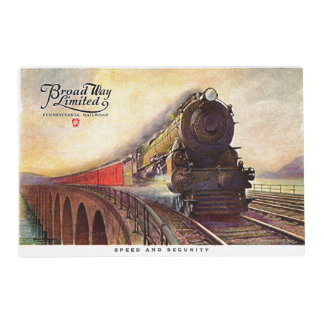Pennsylvania Railroad Broadway Limited Placemat