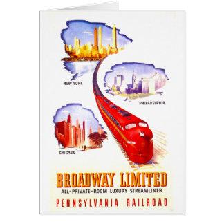 Pennsylvania Railroad Broadway Limited Streamliner Card