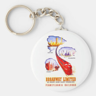 Pennsylvania Railroad Broadway Limited Streamliner Keychain