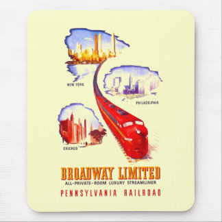 Pennsylvania Railroad Broadway Limited Streamliner Mouse Pad