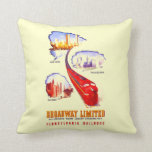 Pennsylvania Railroad Broadway Limited Streamliner Throw Pillows