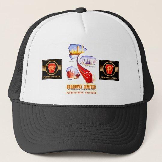 Pennsylvania Railroad Broadway Limited Streamliner Trucker Hat