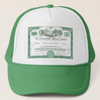 Pennsylvania Railroad CUSTOM Stock Certificate Trucker Hat