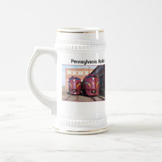 Pennsylvania Railroad E-8a,s (JTFS) 5809 and 5711 Beer Stein