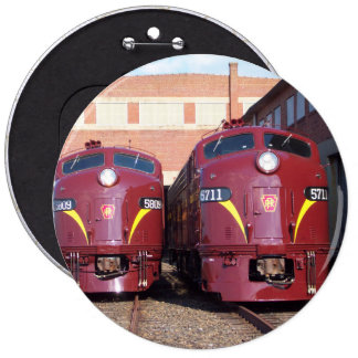 Pennsylvania Railroad E-8a,s (JTFS) 5809 and 5711 Pinback Buttons