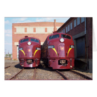 Pennsylvania Railroad E-8a s JTFS 5809 and 5711 Greeting Cards