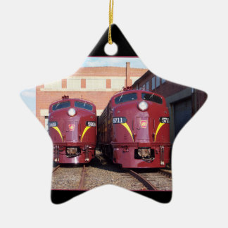 Pennsylvania Railroad E-8a,s (JTFS) 5809 and 5711 Ceramic Ornament