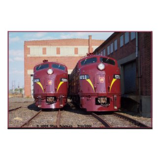 Pennsylvania Railroad E-8a,s (JTFS) 5809 and 5711 Posters