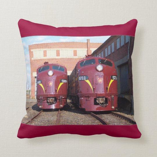 Pennsylvania Railroad E-8a,s (JTFS) 5809 and 5711 Throw Pillow
