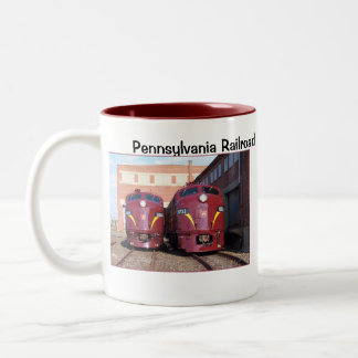 Pennsylvania Railroad E-8a,s (JTFS) 5809 and 5711 Two-Tone Coffee Mug