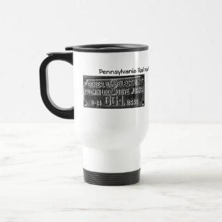 Pennsylvania Railroad GG-1 #4800 Builders Plate Travel Mug