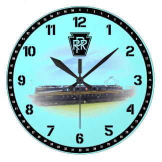 Pennsylvania Railroad GG-1 4800 Side View Clocks