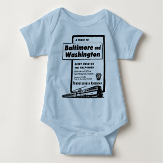 Pennsylvania Railroad Hourly Trains 1948 Baby Bodysuit