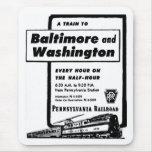 Pennsylvania Railroad Hourly Trains 1948 Mouse Pad