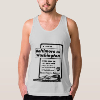 Pennsylvania Railroad Hourly Trains 1948 Tank Top