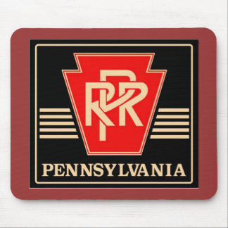 Pennsylvania Railroad Keystone, Black & Gold Mouse Pad