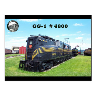 Pennsylvania Railroad Locomotive GG-1 #4800 -2- Postcard