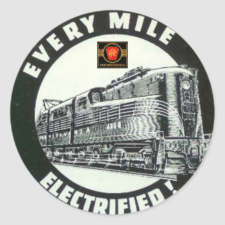 Pennsylvania Railroad Locomotive GG-1 #4800 Classic Round Sticker