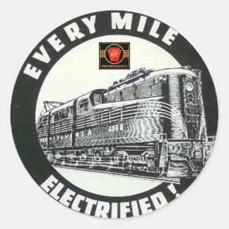 Pennsylvania Railroad Locomotive GG-1 #4800 Classic Round Sticker