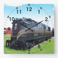 Pennsylvania Railroad Locomotive GG-1 #4800 Photo Square Wall Clock