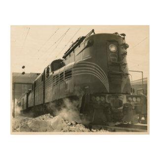 Pennsylvania Railroad Locomotive GG-1 #4800 Wood Canvas