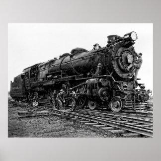 Pennsylvania Railroad Locomotive No. 3863 Poster