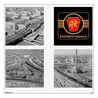 Pennsylvania Railroad Logo and Image Set 1 Wall Decal