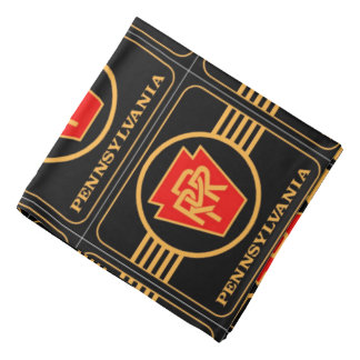 Pennsylvania Railroad Logo, Black & Gold Bandana