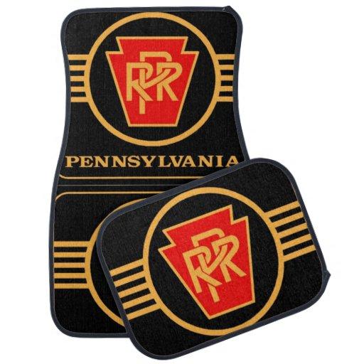 Pennsylvania Railroad Logo, Black & Gold Car Mats Floor Mat