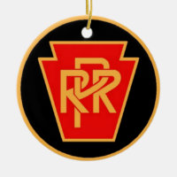 Pennsylvania Railroad Logo, Black & Gold Ceramic Ornament