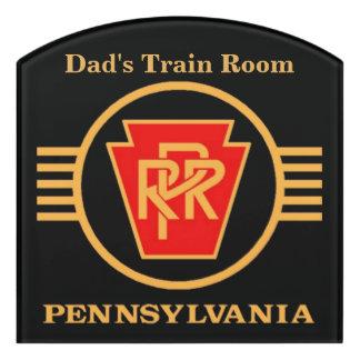 Pennsylvania Railroad Logo, Black & Gold Door Sign