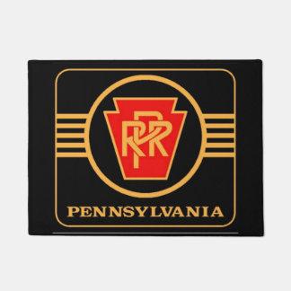 Pennsylvania Railroad Logo, Black & Gold Doormat