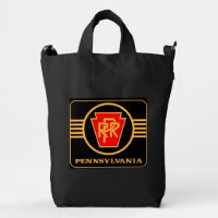 Pennsylvania Railroad Logo, Black & Gold Duck Bag