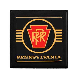 Pennsylvania Railroad Logo, Black & Gold Gift Box